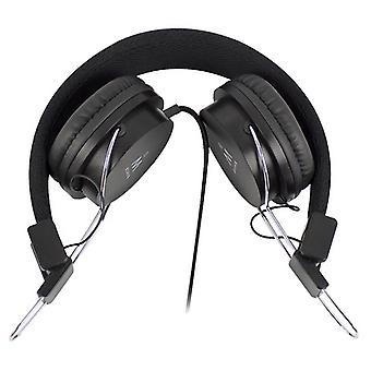 Headphones with Headband Ewent EW3573 (3.5 mm) Black