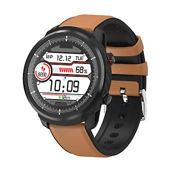 Senbono S10 Smartwatch Fitness Sport Activity Tracker Smartphone Watch iOS Android iPhone Samsung Huawei Brown Leder