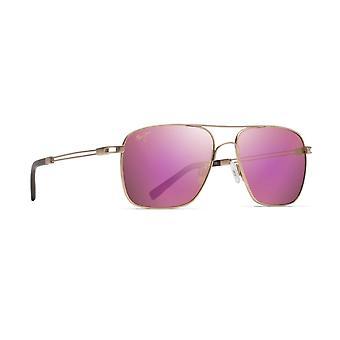 Maui Jim Haleiwa P328 16A Satin Gold/Maui Rose Sunglasses
