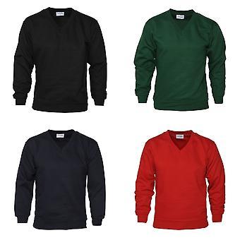 Suor de pescoço V Mens vestuário absoluto