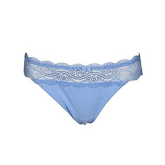After Eden D-Cup & Up 20.35.7566-071 Women's Flo Light Blue Lace Panty Thong