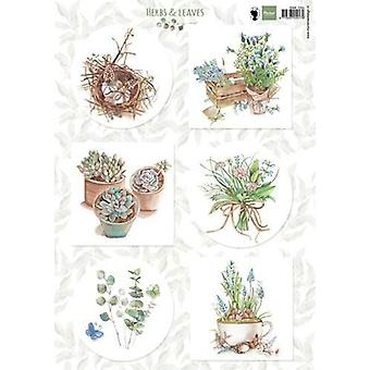 Marianne Design 3D Decoupage sheet Herbs & leaves 1 EWK1254