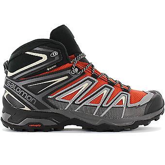 Salomon X ULTRA 3 MID GTX - GORE-TEX - Herren Wanderschuhe Orange-Schwarz 409905 Sneaker Sportschuhe