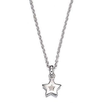 Little Star Kirsty Silver & Diamond Star Childrens Necklace