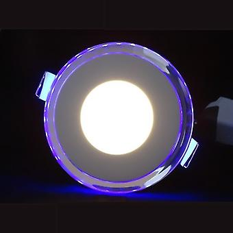 I LumoS LED 10 Watt Round Recessed Ceiling DownLight with Blue Light Pure White