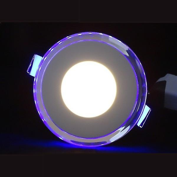 I LumoS LED 10 Watt Round Recessed Ceiling DownLight with Blue Light Pure White