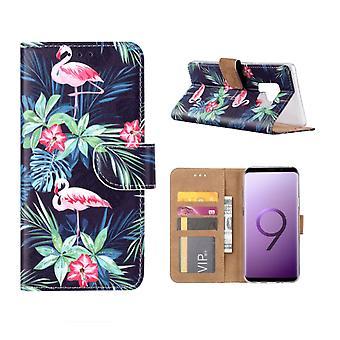 FONU Bücherregal Fall Flamingo's Samsung Galaxy S9 Plus