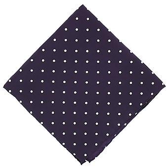 Michelsons of London Polka Dot Silk Handkerchief - Purple