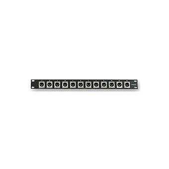Impuls Pls00022 1u rackpanel med 12 X Xlr-panelstik