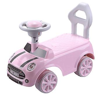 RideonToys4u Foot to Floor Push Along Ride on Car Pink Ages 2-4 Years