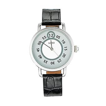 Nero 96 Nuovo Unisex Black Italian Strap Quartz Watch - Noir