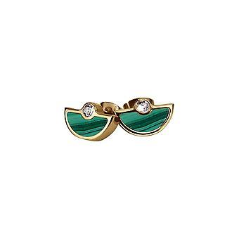 Jacques Lemans - Malachite stud earrings - S-O67F