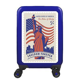 meinTrolley New York S, 4 Rollen, 55 cm, 32  L, Blau