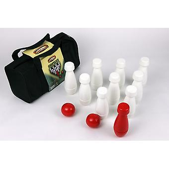 Traditionnel 13 Piece Quality Wooden Garden Skittles Jeu