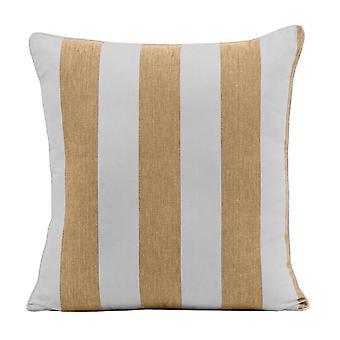 Outdoor Stripe Cushion 45x45cm Taupe