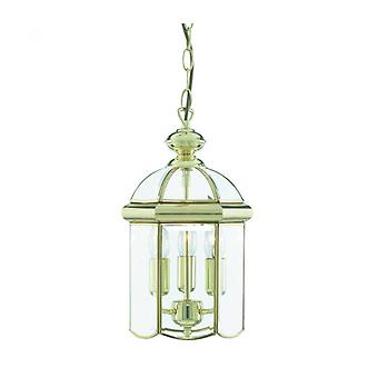 Hanging Lamp 22 Cm Lanterns, In Polished Brass And Glass