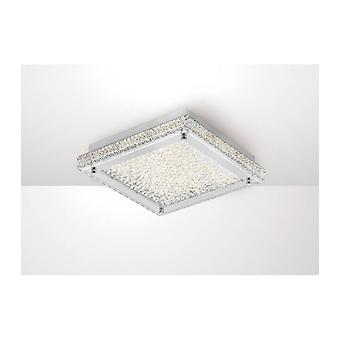 Ceiling Lamp Amelia 18w 1800lm Led 4000k Stainless Steel / Crystal