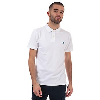 Mannen's Timberland Stretch Pique Polo Shirt in Wit