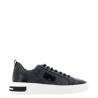 Bally 6234679 Men's Black Leather Sneakers