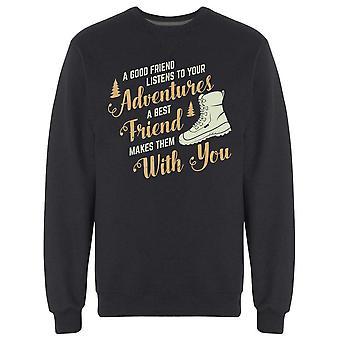 En god vän lyssnar Sweatshirt Men & apos; s -Bild av Shutterstock