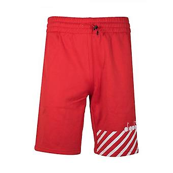 Diadora Red Polyester Shorts