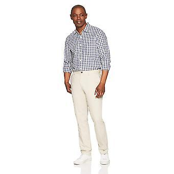Essentials Men's Slim-Fit Falten-Resistent, Stein, Größe 29W x 32L
