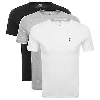 Luke 1977 Luke Johnys 3 Pack Small Logo T-Shirts Black/White/Grey M420150