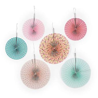 6 Vintage Collection Paper Hanging Party Decorations