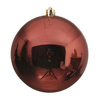 Single Rosewood Brown 14cm Shatterproof Christmas Tree Bauble Decoration
