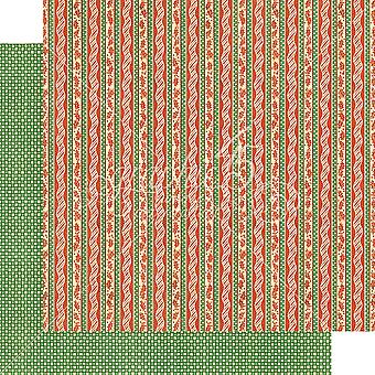 Graphic 45 Candy Cane Ribbons 12x12 Inch Paper Pack