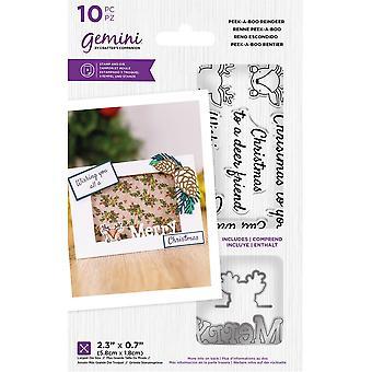 Gemini Peek-A-Boo Reindeer Stamp & Die