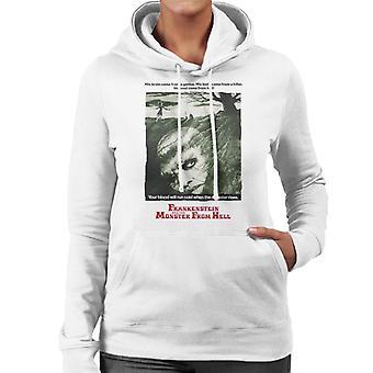 Hammer Horror Films Frankenstein Soul From Hell Women's Hooded Sweatshirt