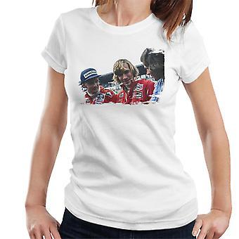 Motorsport Images Niki Lauda James Hunt & Barry Sheene Women's T-Shirt