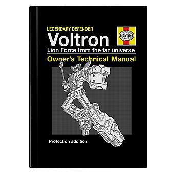 Voltron Defender Of The Universe Haynes Manual Hardback Journal