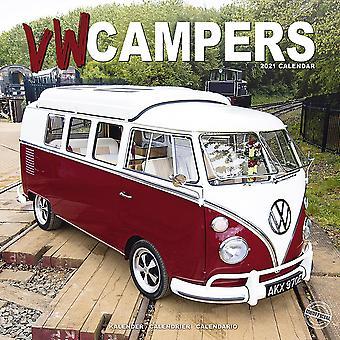 VW Bus Calendar Camper 2021 Bulli Volkswagen 16 month wall calendar, original English version.