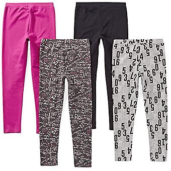 Brand - Spotted Zebra Toddler Girls' 4-Pack Leggings, Matematik, 3T
