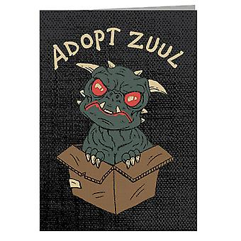 Adopt Zuul Ghostbusters Greeting Card