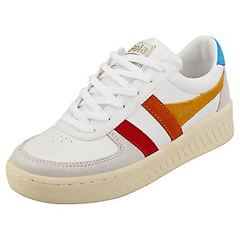 Gola Grandslam Trident Womens Fashion Trainers in White Multicolour