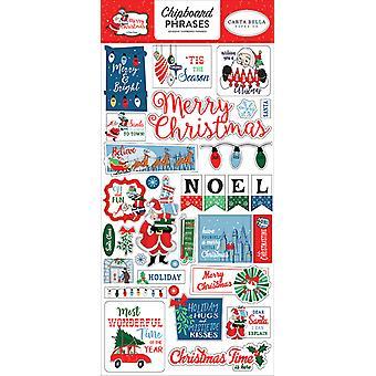 Carta Bella Merry Christmas 6x13 Inch Chipboard Phrases