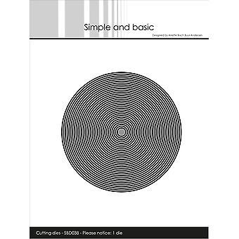 Enkel och grundläggande tunna ramar Circle Die