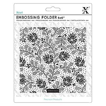Xcut 6x6 Inch Embossing Folder Abstract Thistles