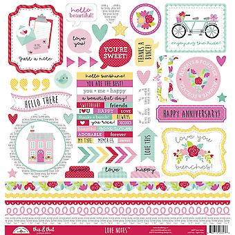 Doodlebug Design Note d'Amore Questo & Che gli adesivi