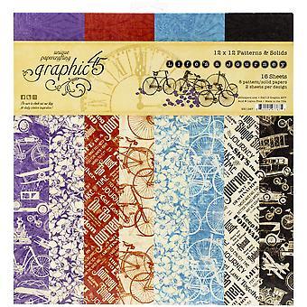 Gráfico 45 Life's un viaje 12x12 pulgadas patrones & Almohadilla de papel sólido