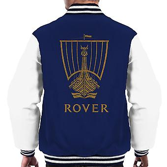Rover Logo Gold Longship British Motor Heritage Men's Varsity Jacket