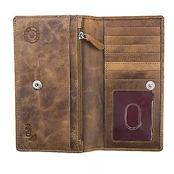 Primehide Womens Leder Geldbörse Brieftasche große RFID Blockieren Karte Halter 3912