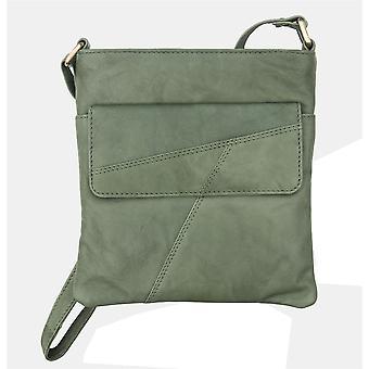 Primehide Womens Leather Small Crossbody Shoulder Handbag Tablet Bag Ladies 6550