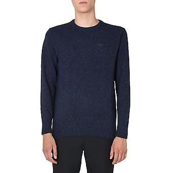 Barbour Mkn0844ny91 Homme-apos;s Pull en laine bleue