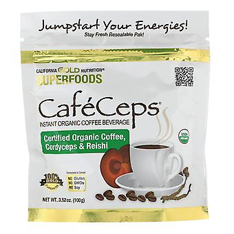 California Gold Nutrition, CafeCeps, Certified Organic Instant Coffee with Cordy