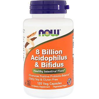 Now Foods, 8 Billion Acidophilus & Bifidus, 120 Veg Capsules