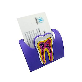 Colorful Dental Cute Card Holder Of Rubber Having Molar Shaped - Name Case Display Stand